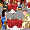A dinner at the restaurant