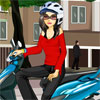 A Girl on a Motorbike