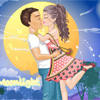 Moonlight Kissing Couple