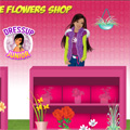 Barbie buying flowers