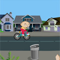 Stewie on bike