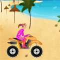 Beach Girl On ATV