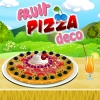 Pizza with fruits