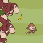 Banana Stealing Monkey