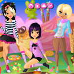 Girls in candy land
