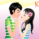 Kissing couple fun