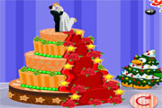Christmas Wedding Cake Decor